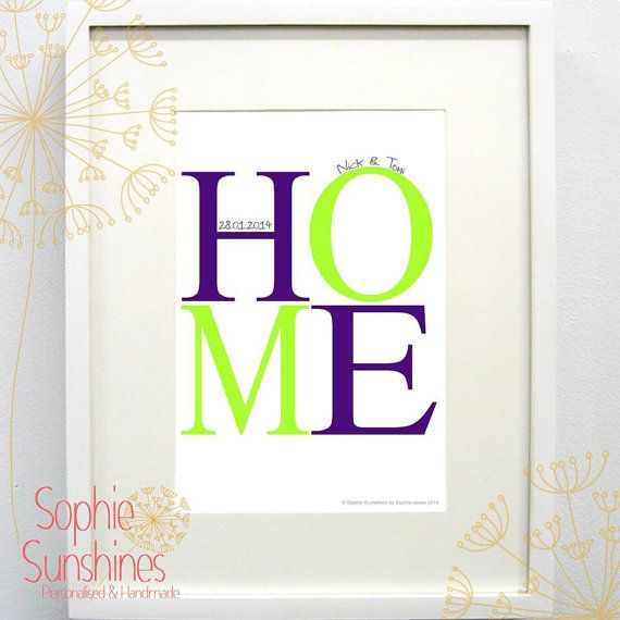 HOME Print by SophieSunshines on Etsy, £15.00