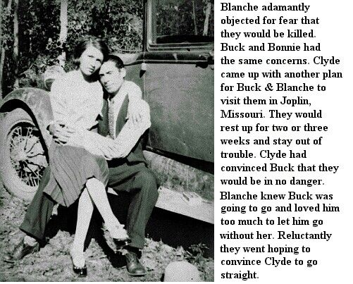 Blanche and Buck Barrow. Accomplices of the infamous Bonnie and Clyde.