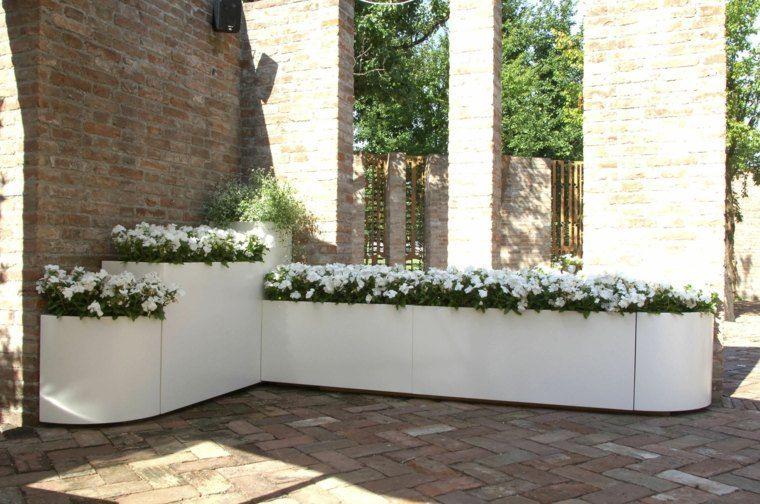 Jardineras inmensamente elegantes y funcionales - Jardineras de exterior ...