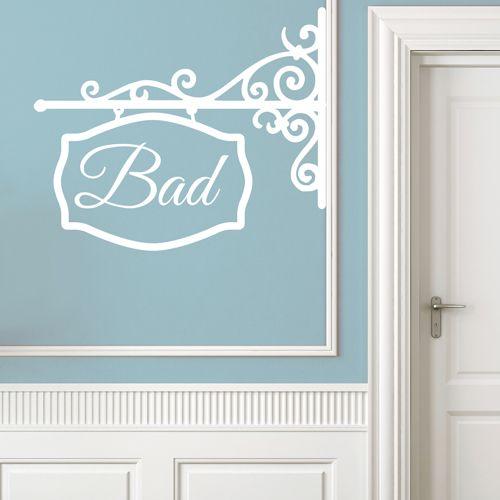 Dieses verschnörkelte schöne Wandtattoo kann man als gusseisernes - wandtattoos fürs badezimmer