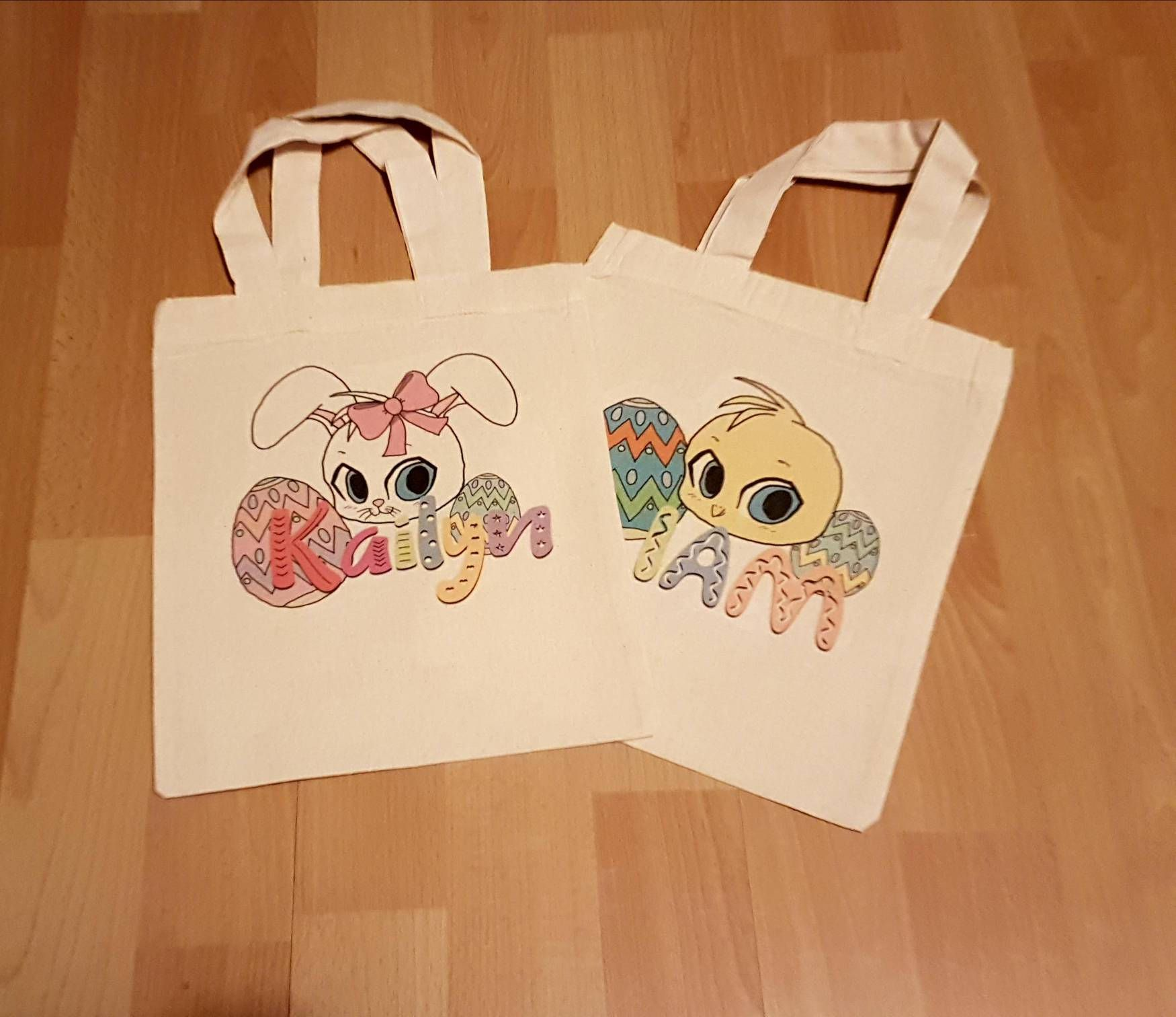 Cute personalised easter bag perfect for easter egg hunts or easter cute personalised easter bag perfect for easter egg hunts or easter gifts fill them up with easter treats to make an easter basket type thing choice of negle Images