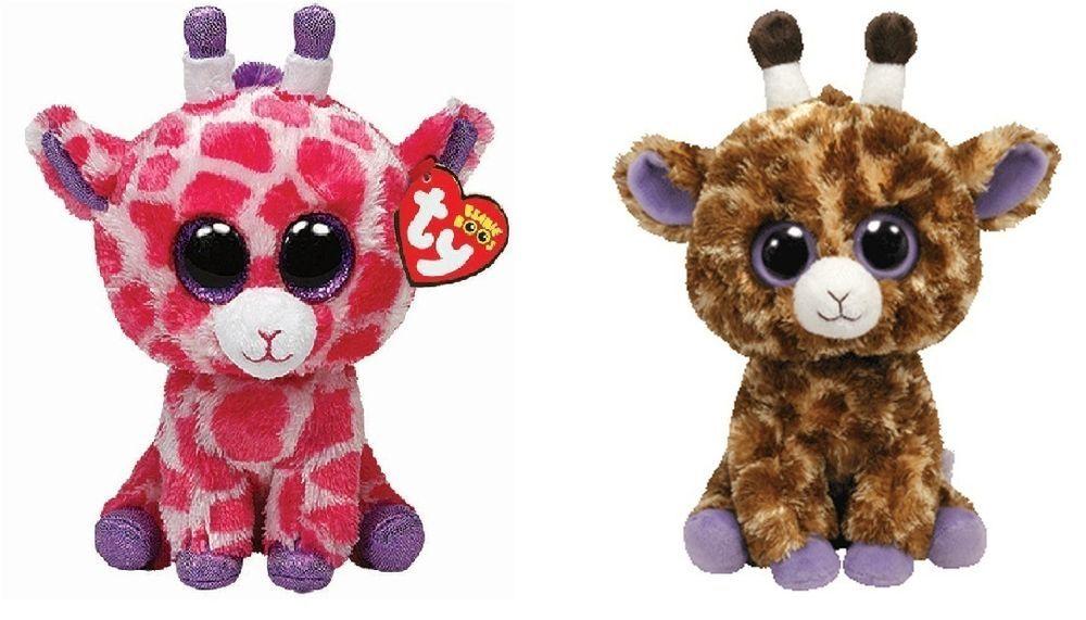 be14ad3fd59 Ty Twigs   Safari the Giraffes set of 2 Beanie Boos Stuffed Animal Plush Toy