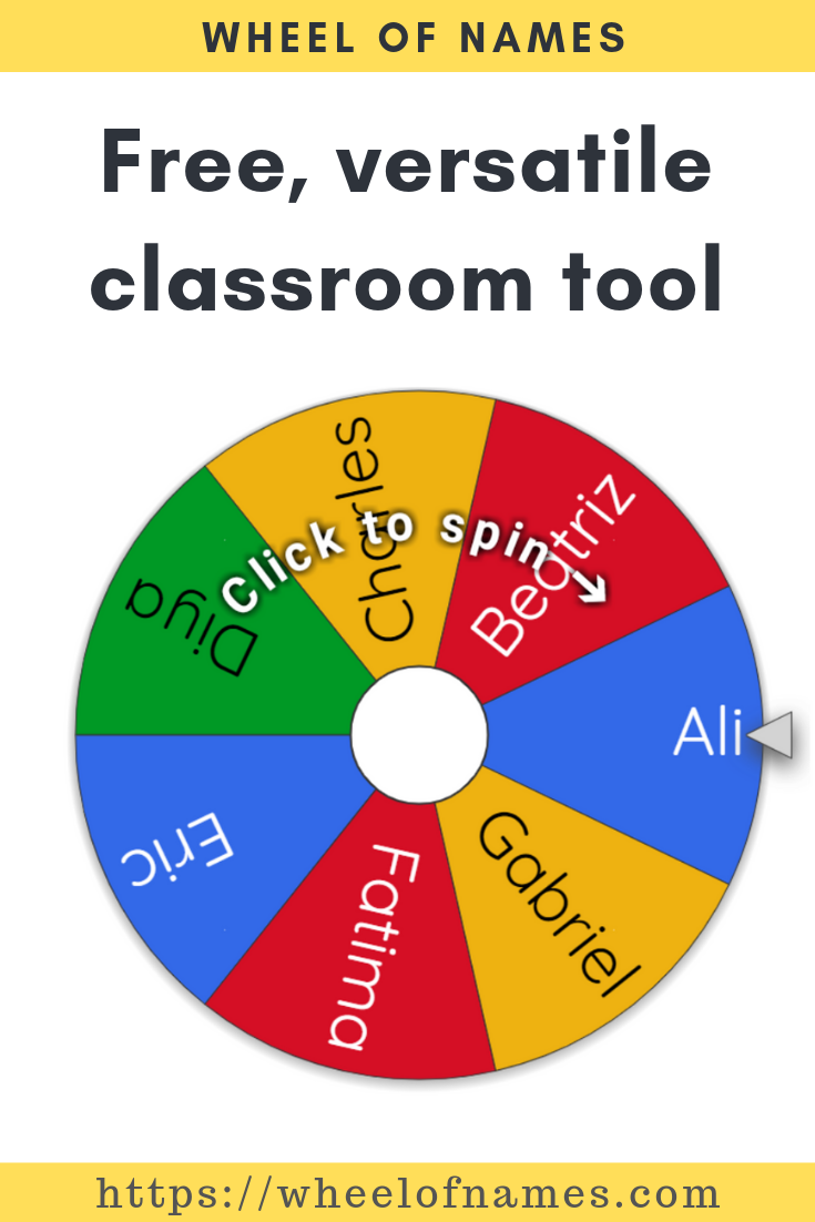 Handy free classroom tool for teachers and students. Enter
