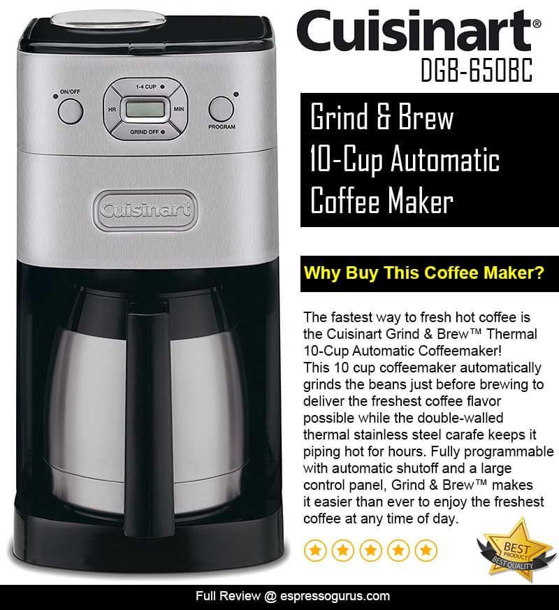 Cuisinart GrindandBrew Coffee Maker Review Must Read