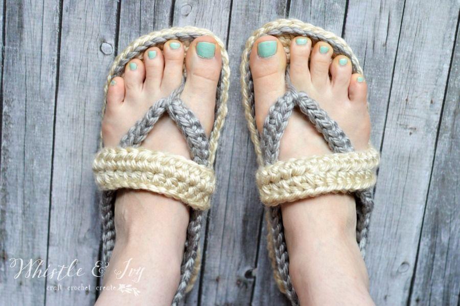 Women\'s Strap Flip-Flops Summer Slippers | Zapatos tejidos ...