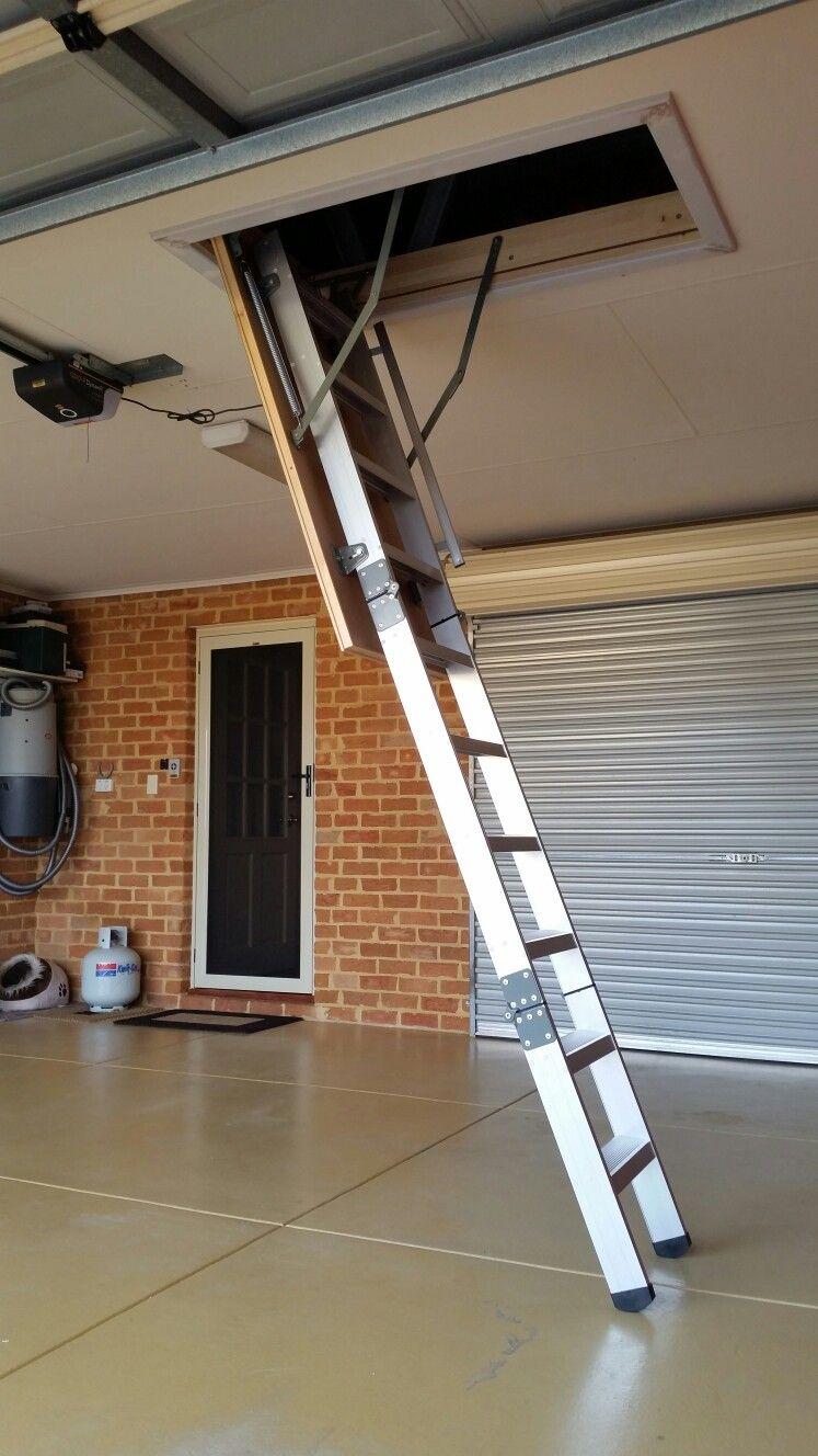 Garage Attic Access Ladder By Attic Lad Wa Attic Access Ladder Attic Storage Attic Ladder