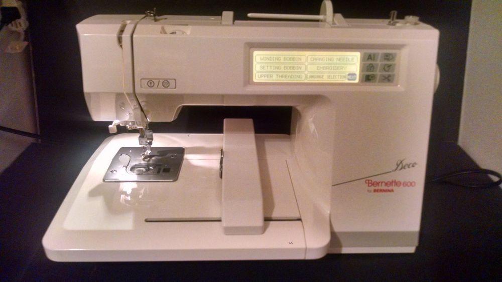 Bernina Bernette Deco 600 Computerized Embroidery Sewing Machine W Cover Sewing Machine Computerized Embroidery Bernina Bernette