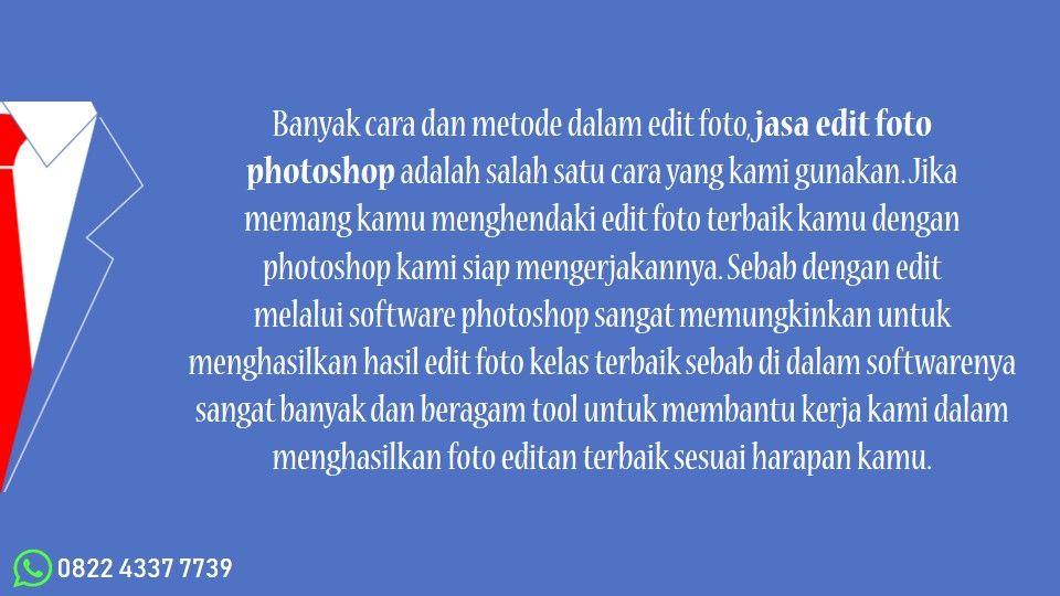 Keren Jasa Edit Foto Cilacap 0822 4337 7739 Pengeditan Foto Photoshop