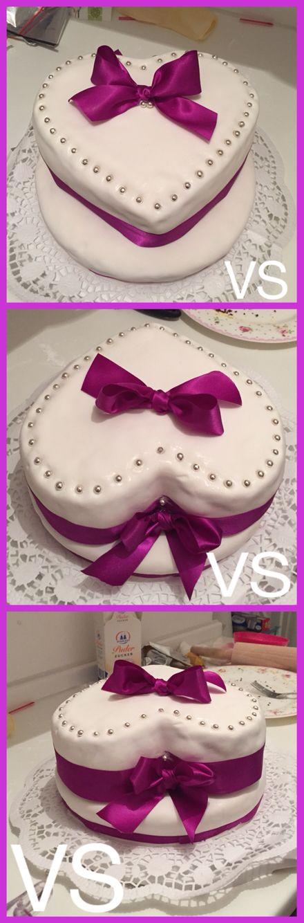 #wedding #Hochzeitstorte #lila #Herz #Cake