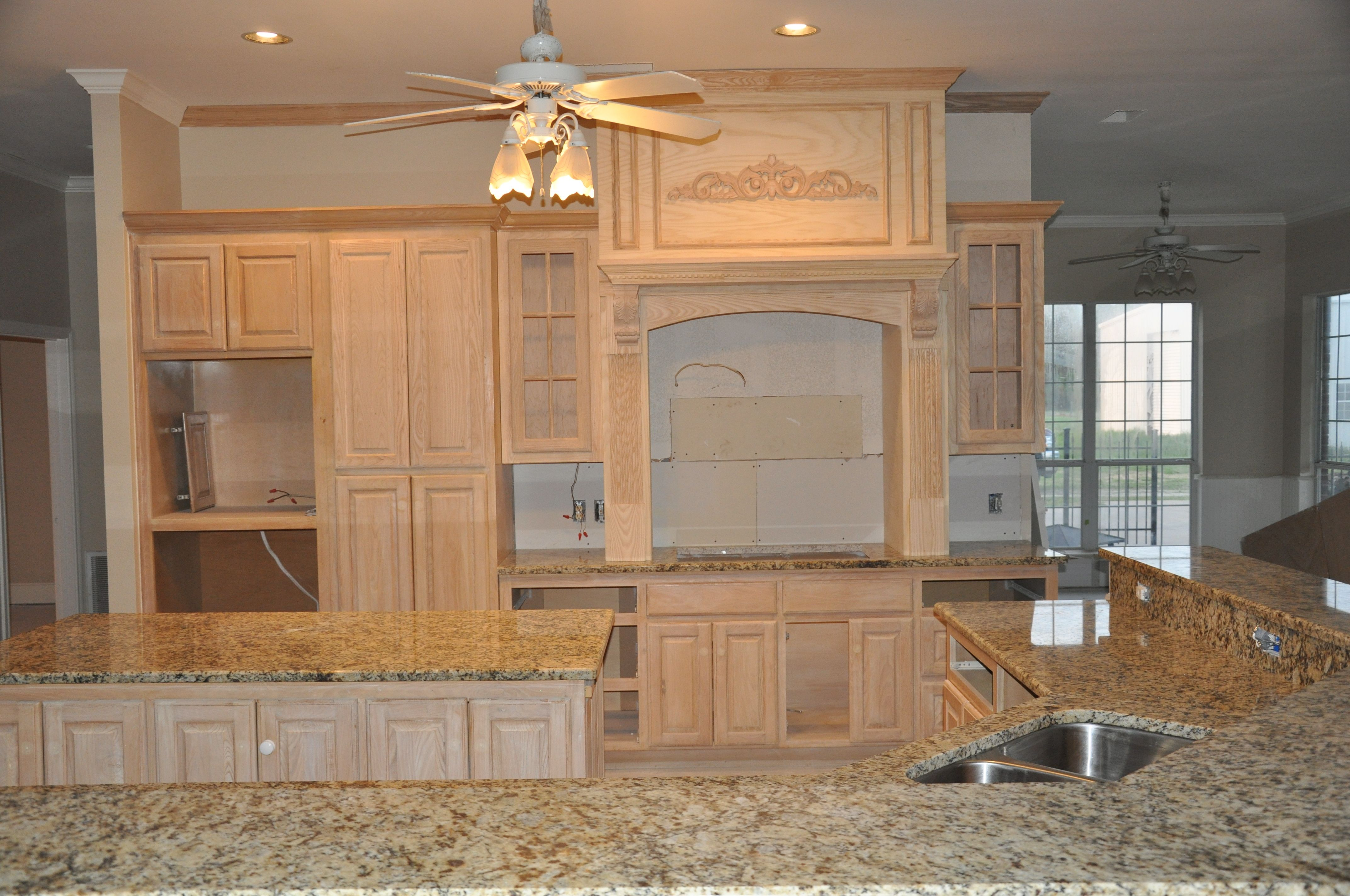 The grand new cooktop wall unit is in place. I added new ...