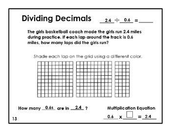 Dividing Decimals Word Problems Dividing Decimals Decimals