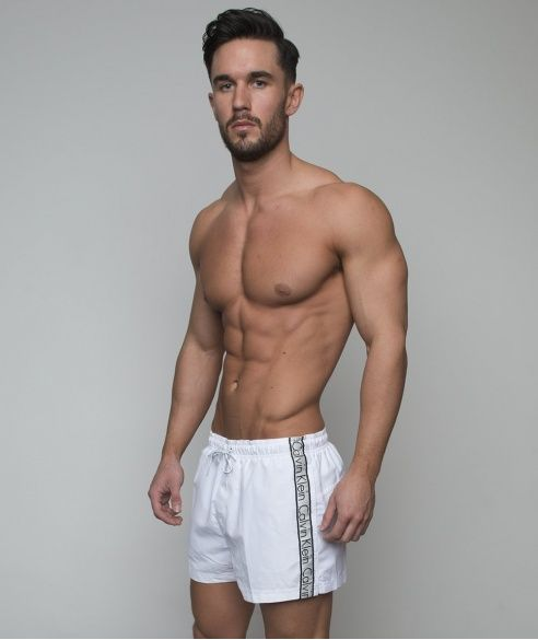 83cf6cc4be White Calvin Klein swimming shorts at BANG+STRIKE | Men | Swim ...