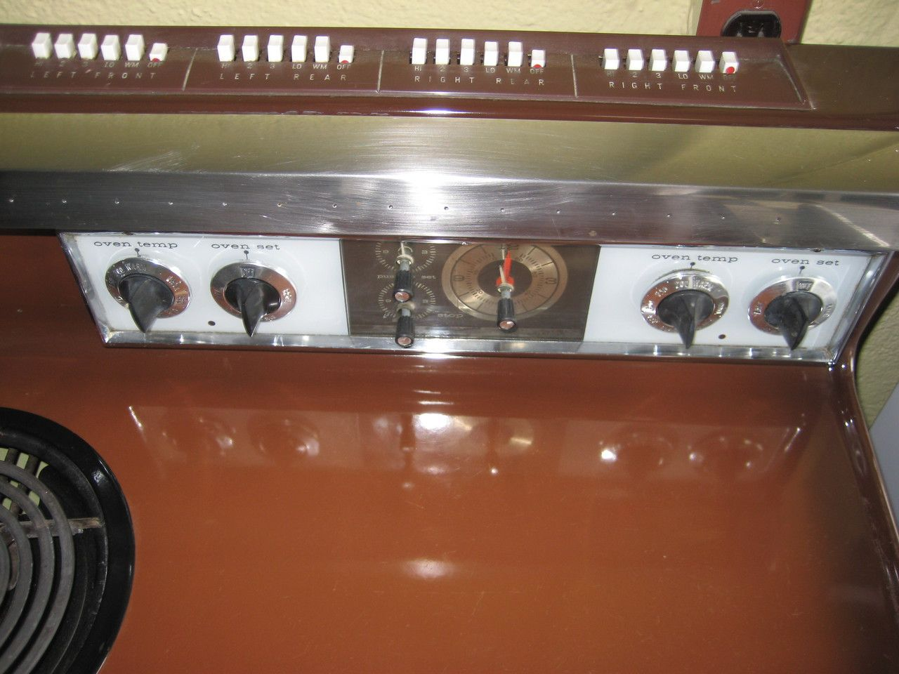40 Inch Electric Range Part - 46: Appliance City - GE VINTAGE CHOCOLATE BROWN 40 INCH ELECTRIC DOUBLE OVEN  PUSH BUTTON CONTROL WITH