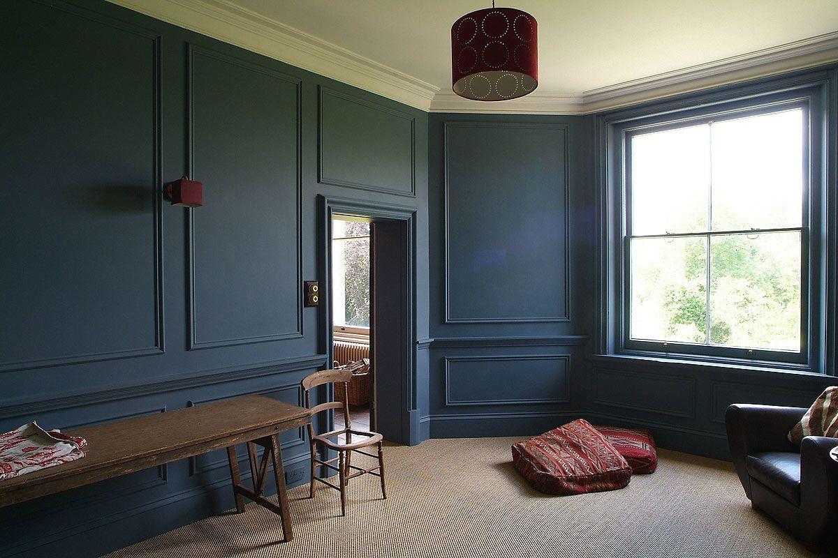 navy blue panelled walls lightlocations.com | Interiors | Pinterest ...
