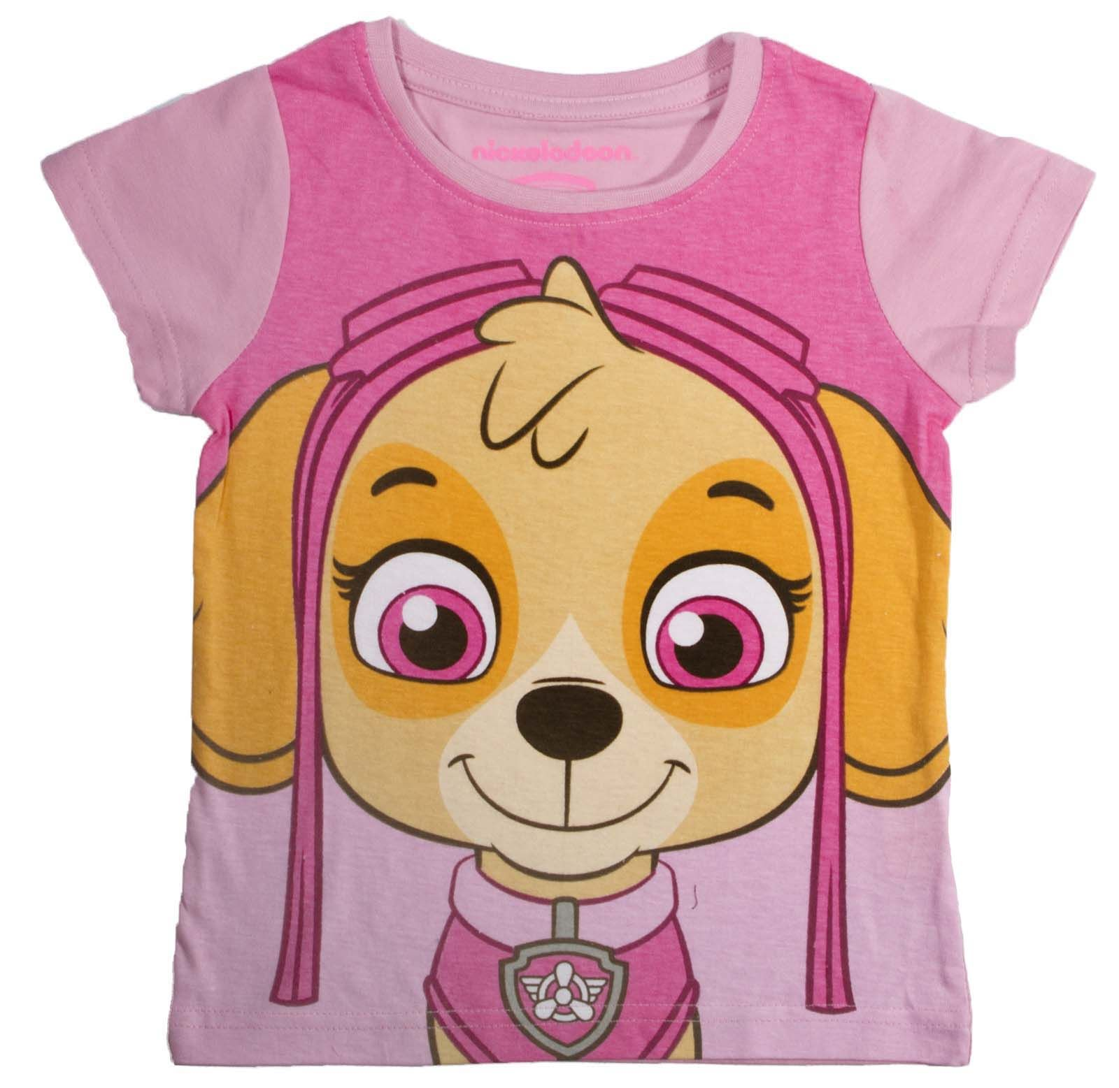 1c61c0cb9 Details about Paw Patrol T Shirt With Face Mask Short Sleeve Top ...