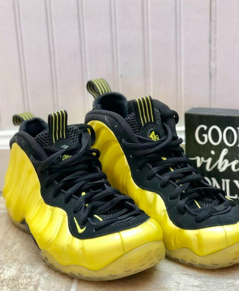 acf8b86685b88 Nike Air Foamposite One Electrolime Black Rare Sz 6.5 EUC  Nike   BasketballShoes