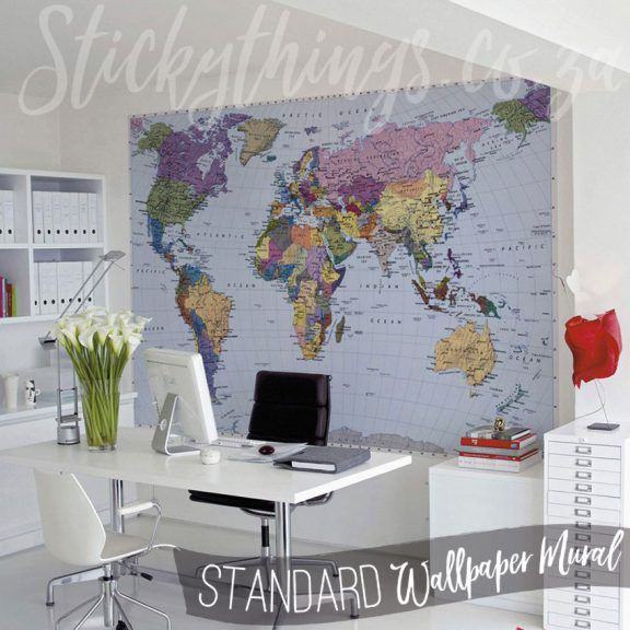 Stickythings our world map mural is a large geographical stickythings our world map mural is a large geographical world gumiabroncs Image collections