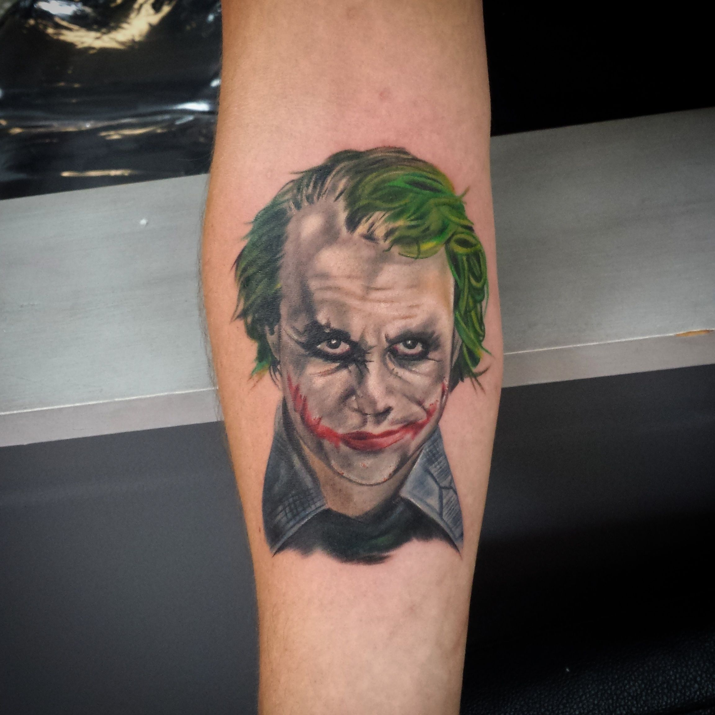 The Joker Tattoo Heath Ledger Sleeve Tattoos Joker Tattoo Tattoos