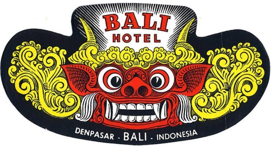 Luggage label of Bali Hotel, Den Pasar, Bali, date unknown
