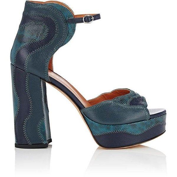 8daf388423f Derek Lam Women s Kimble Leather  amp  Snakeskin Platform Sandals (51.790  RUB) ❤ liked