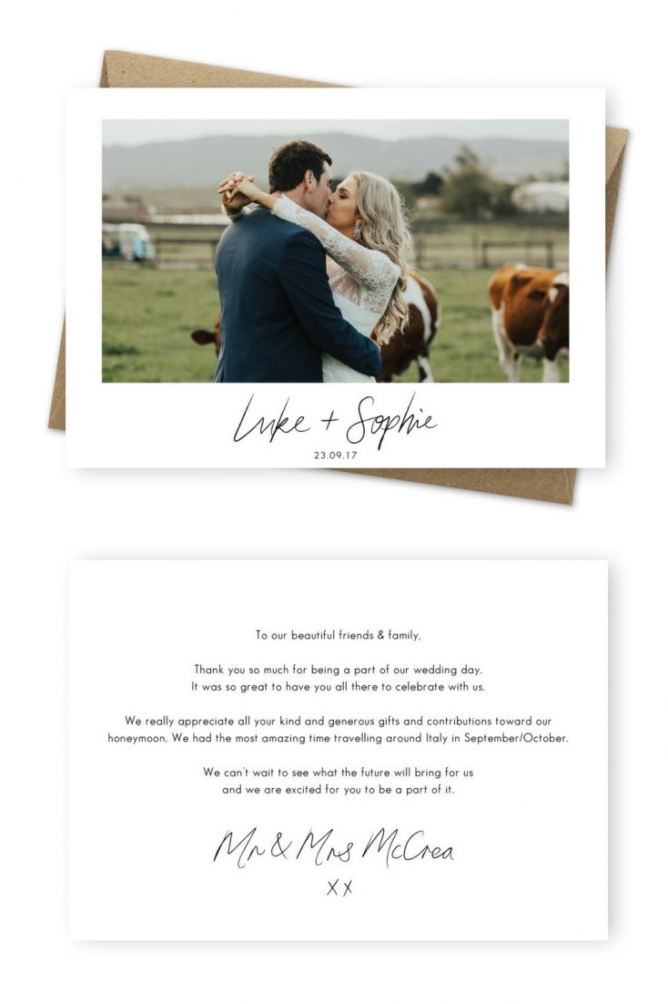 wedding thank you card wording for cash gift examples