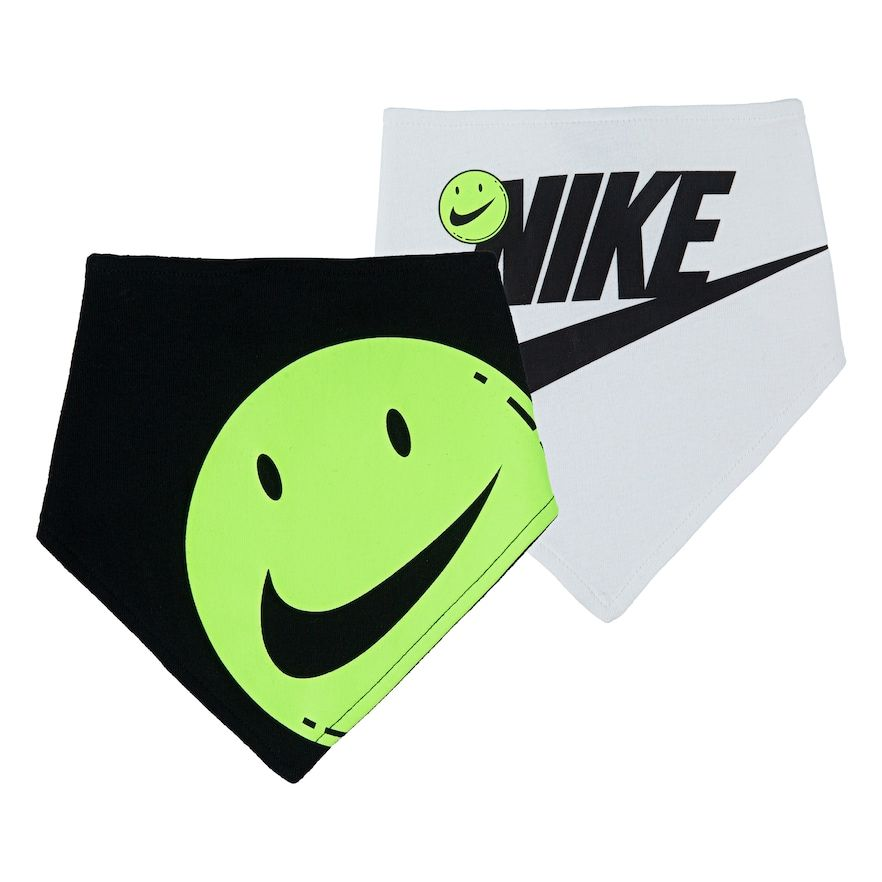 Baby Boy Nike Smiley Face Bandana Bibs (2-pack)