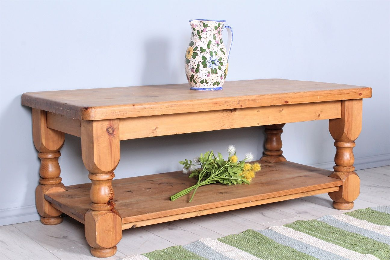 99 Chunky 4 ft pine coffee table very heavy free local delivery