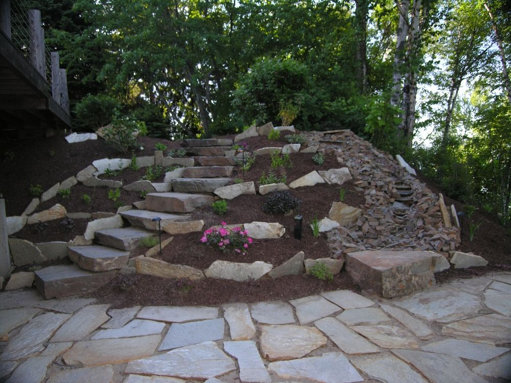 Superior Rock Patio Natural Rock Walkways Amp Patios Turfcare Landscaping In  Sandpoint