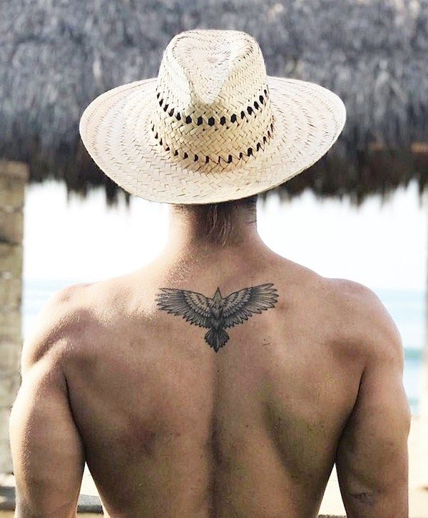 37 Small Eagle Tattoo Designs For Men Small Back Tattoos Small Tattoos For Guys Small Eagle Tattoo