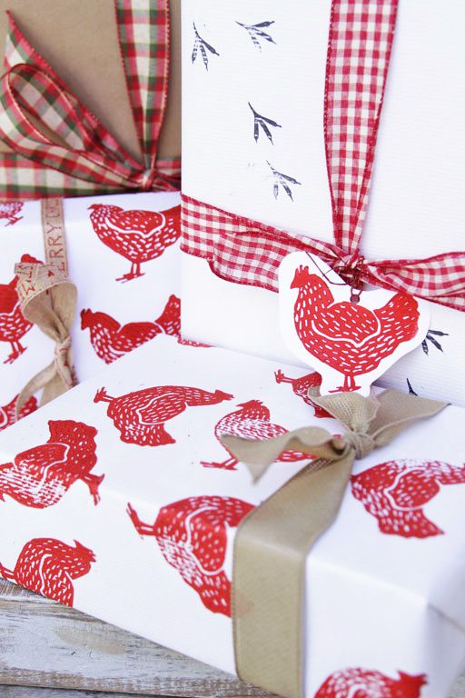 make your own diy stamped wrapping paper for the holidays this year a way to