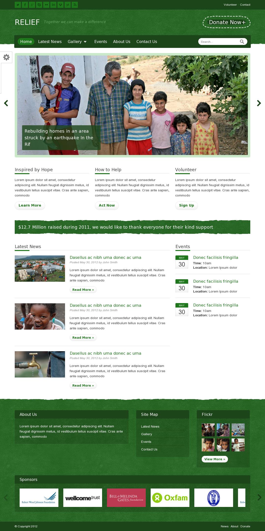 Nonprofit HTML template on Themeforest