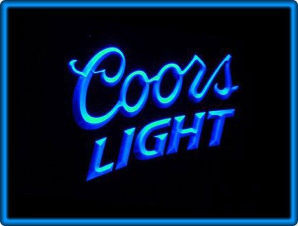 Coors Light Beer Bar Pub Restaurant Neon Light Sign