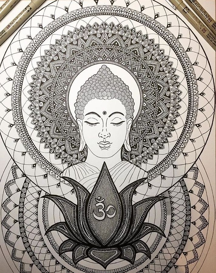 Rkrishnappa Buddhism Art Buddha Art Mandala Design Art