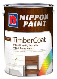 Nippon Paint Timbercoat 1l For Exterior Wood 8 Colours Nippon Paint Water Based Acrylic Paint Painting On Wood