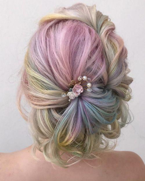 Wedding Hair Color Ideas: Rainbow Hair Color, Prom
