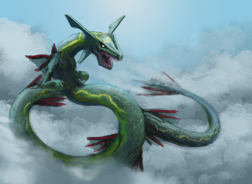 rayquaza among the clouds