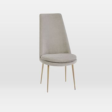 Finley High Back Dining Chair Distressed Velvet Light