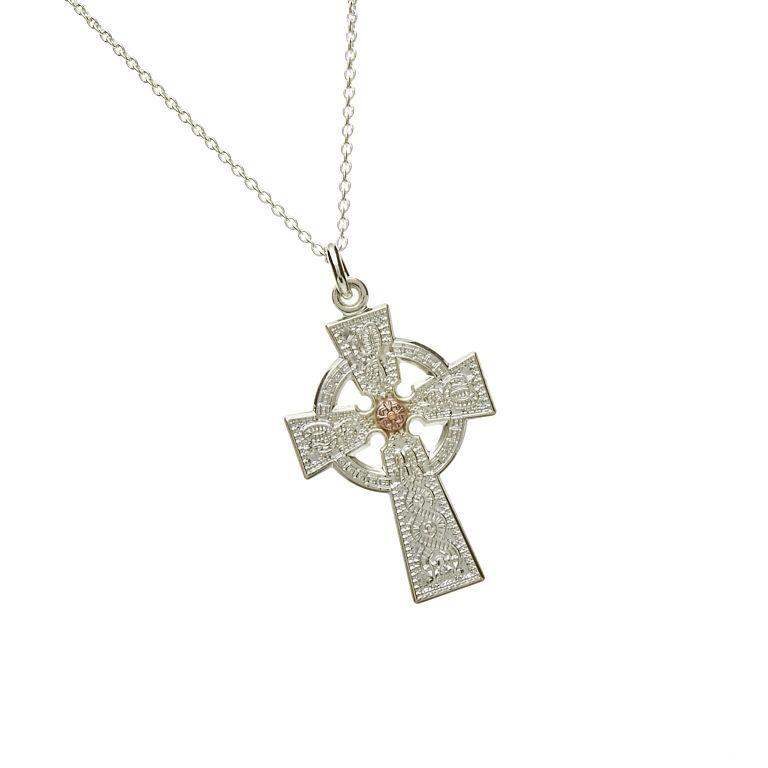 Ladies Celtic Cross #houseoflor #irishjewelry #irishgold #celticcross #sterlingsilver #arda #handmade #celticjewelry