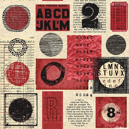 Poster Block - Letters & Numbers Collage - Natural