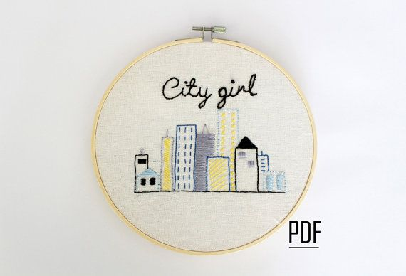 City Embroidery Pattern Pdf Download Printable By Tatasol On Etsy