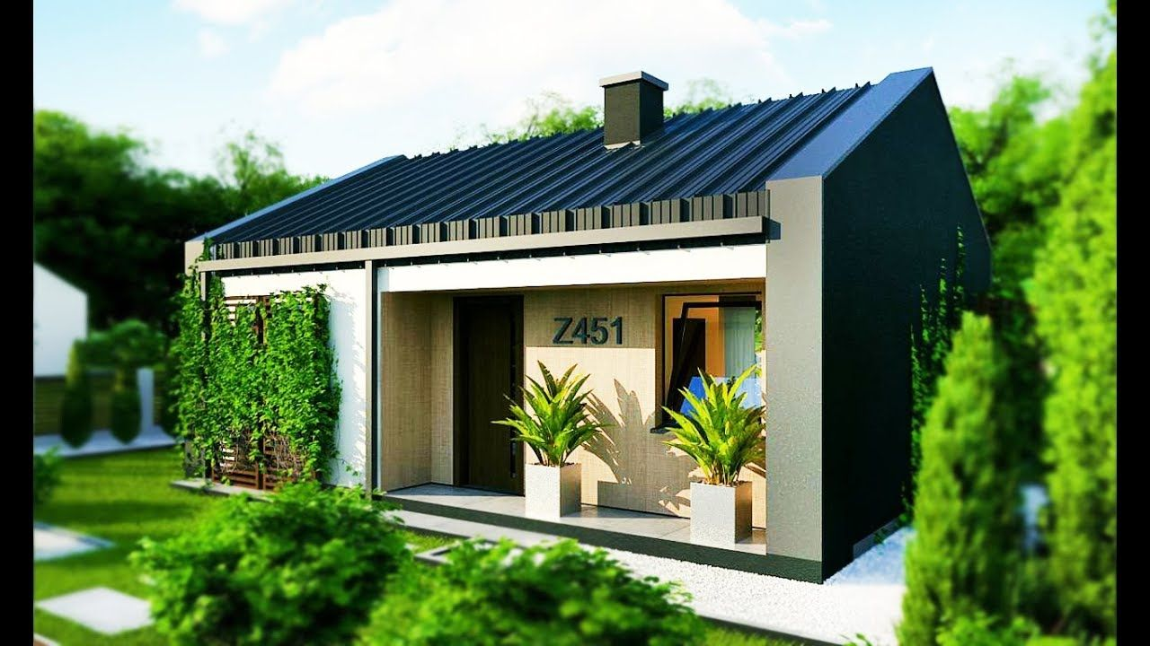 28 - 35m² Modern Minimalist Small Houses Has Delicate Pool ...