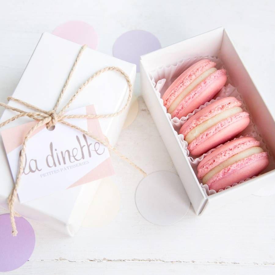 10 Three Macaron Favour Box from notonthehighstreet.com | Macarons ...
