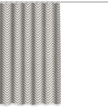 Buy Chevron Shower Curtain in Grey from Bed Bath & Beyond