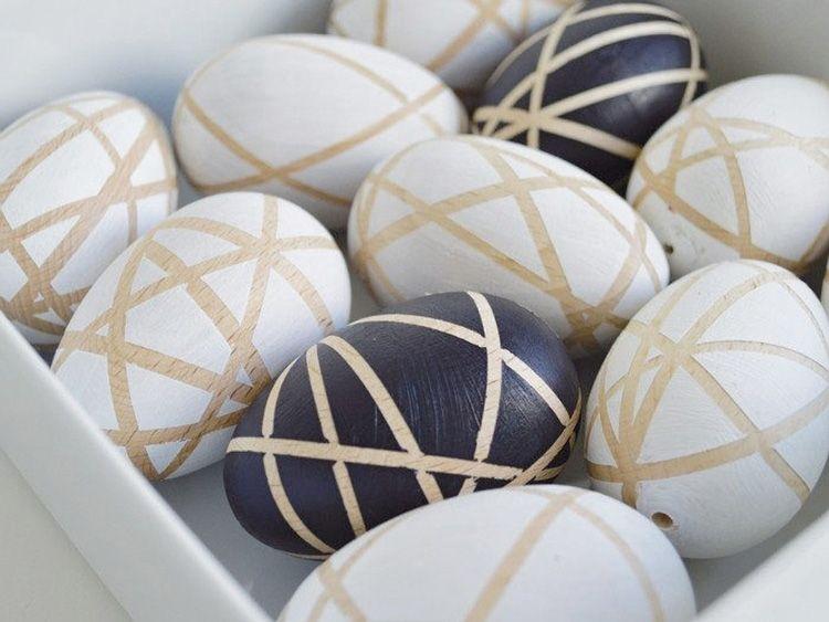 DIY-Anleitung: Geometrische Holzdeko für Ostern selber machen via DaWanda.com