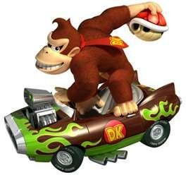 A Turtle Throwing Gorilla Bad Guy Mario Kart Super