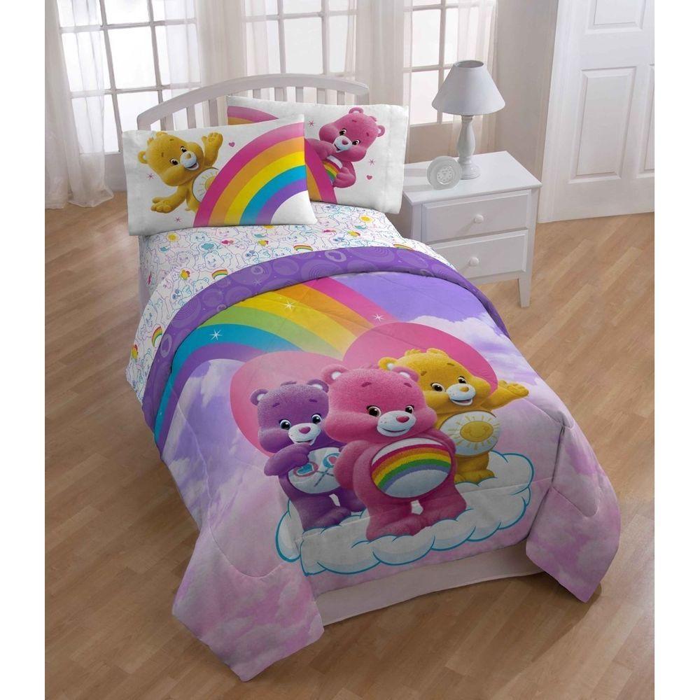 Twin Bed In Bag Sheet Set 5 Pc Care Bears Comforter Pillowcase