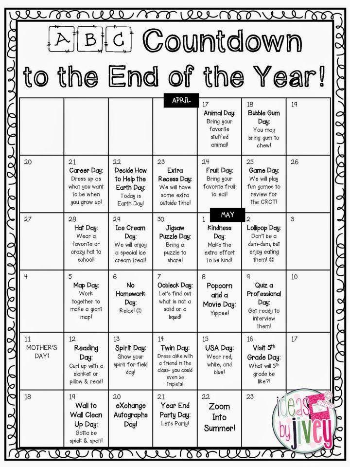Calendar Year End : Spark student motivation bubble gum day school