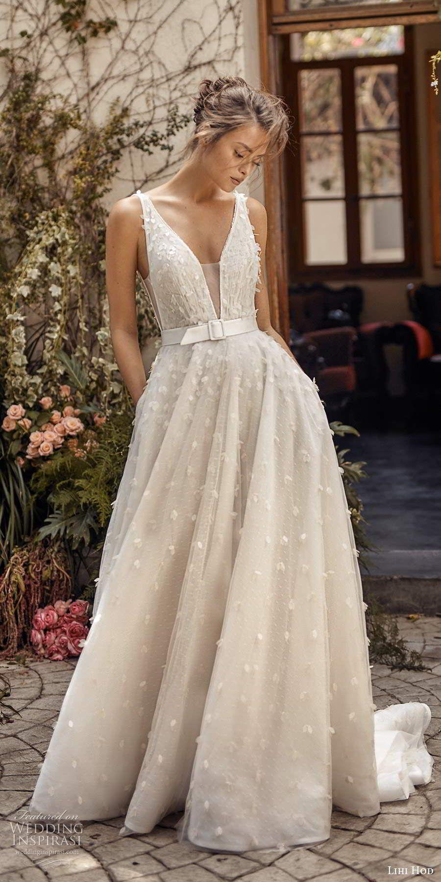 Lihi Hod Fall 2020 Wedding Dresses White Blossom Bridal Collection Wedding Inspirasi Goddess Wedding Dress Extravagant Wedding Dresses Black Wedding Dresses [ 1800 x 900 Pixel ]