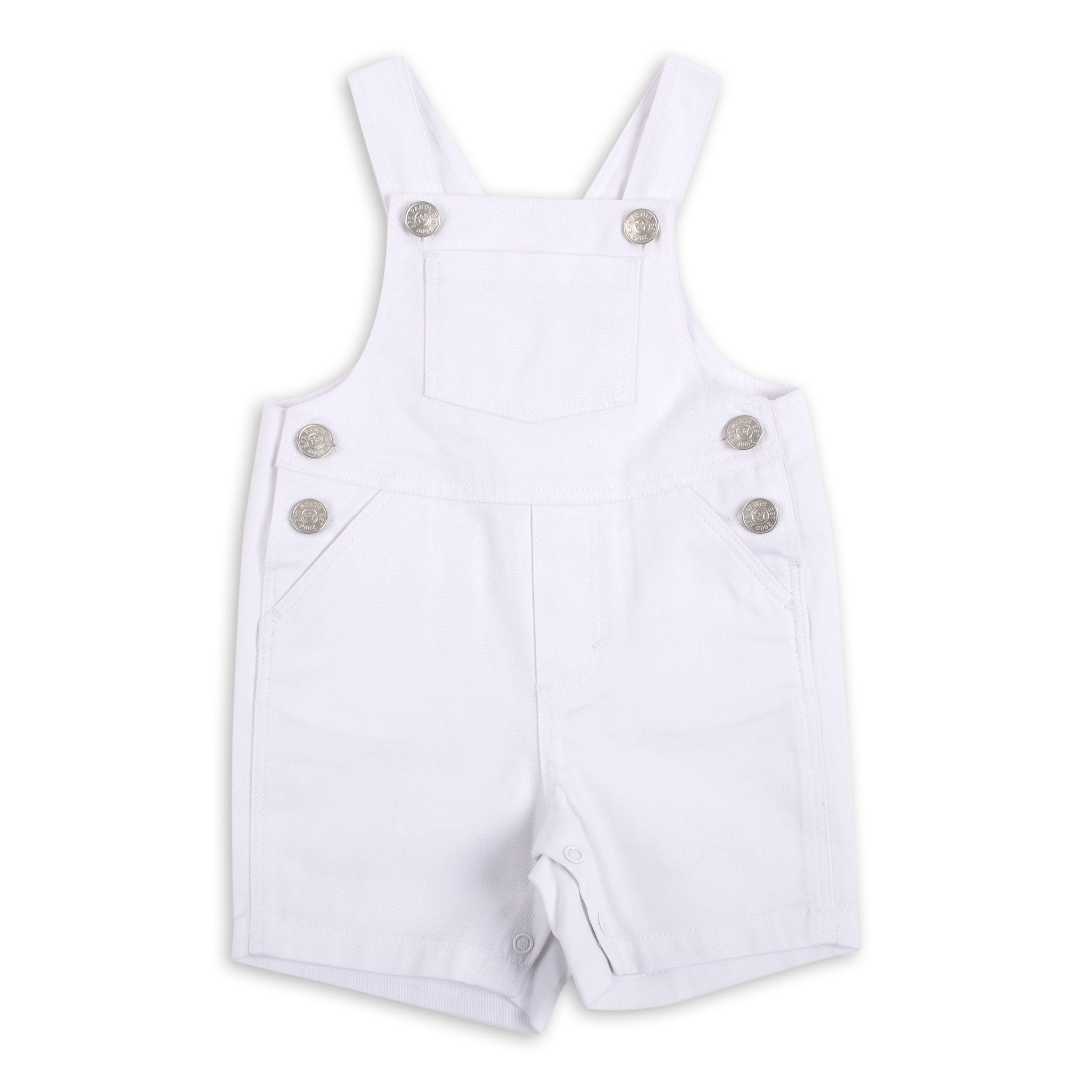 Braga EPK estilo overall para bebe ni±o en color blanco