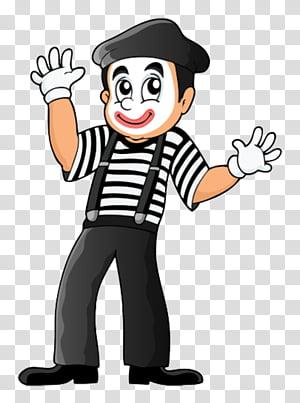 Circus Mime Artist Cartoon Pantomime Line Art Finger Pleased Gesture Transparent Background Png Clipart Clip Art Mime Artist Hand Emoji
